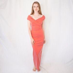 Talbot Runhof Iridescent Red Eve Gown Dress 0030
